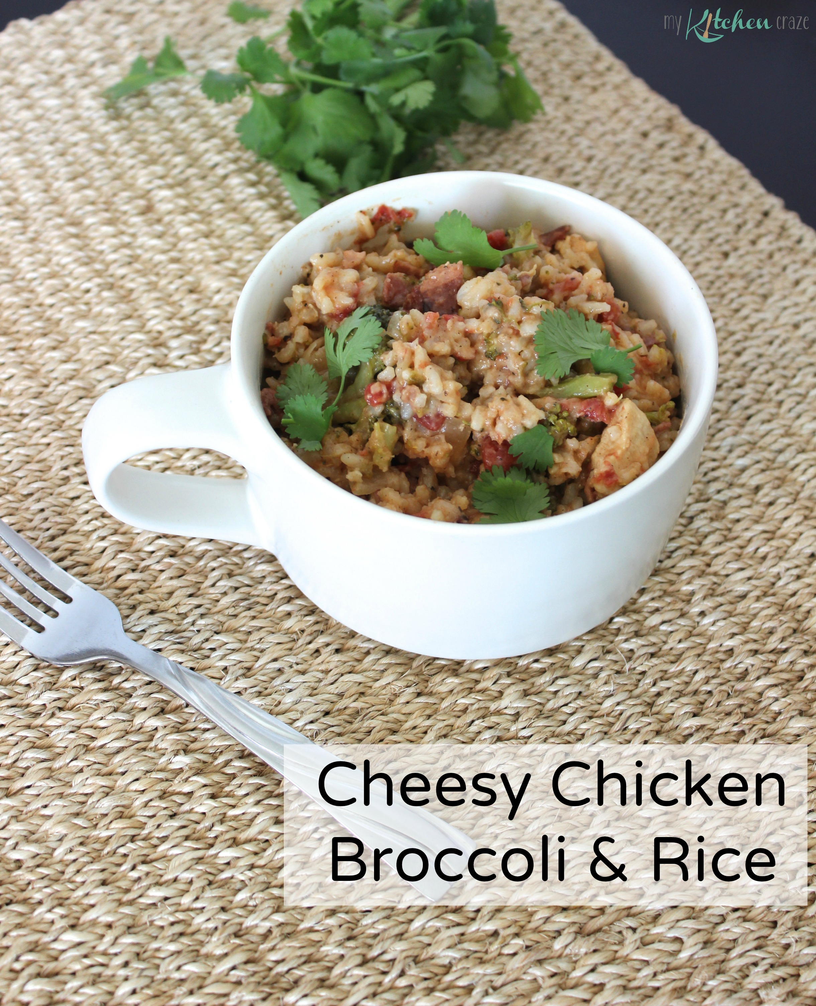 Cheesy Chicken Broccoli and Rice - My Kitchen Craze