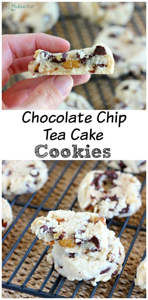 Chocolate Chip Tea Cake Cookies l My Kitchen Craze