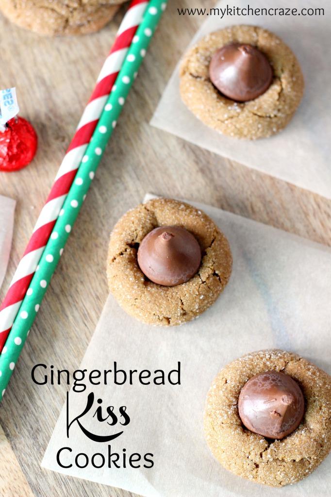 Gingerbread Kiss Cookies l My Kitchen Craze