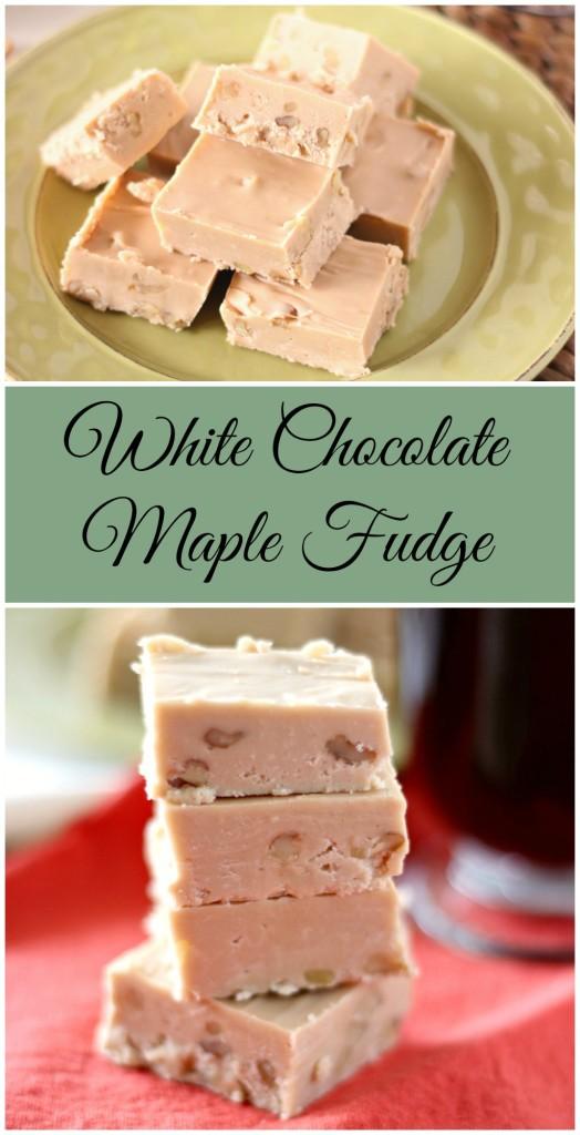 White Chocolate Maple Fudge l My Kitchen Craze