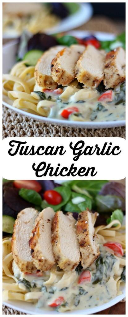 Tuscan Garlic Chicken l My Kitchen Craze