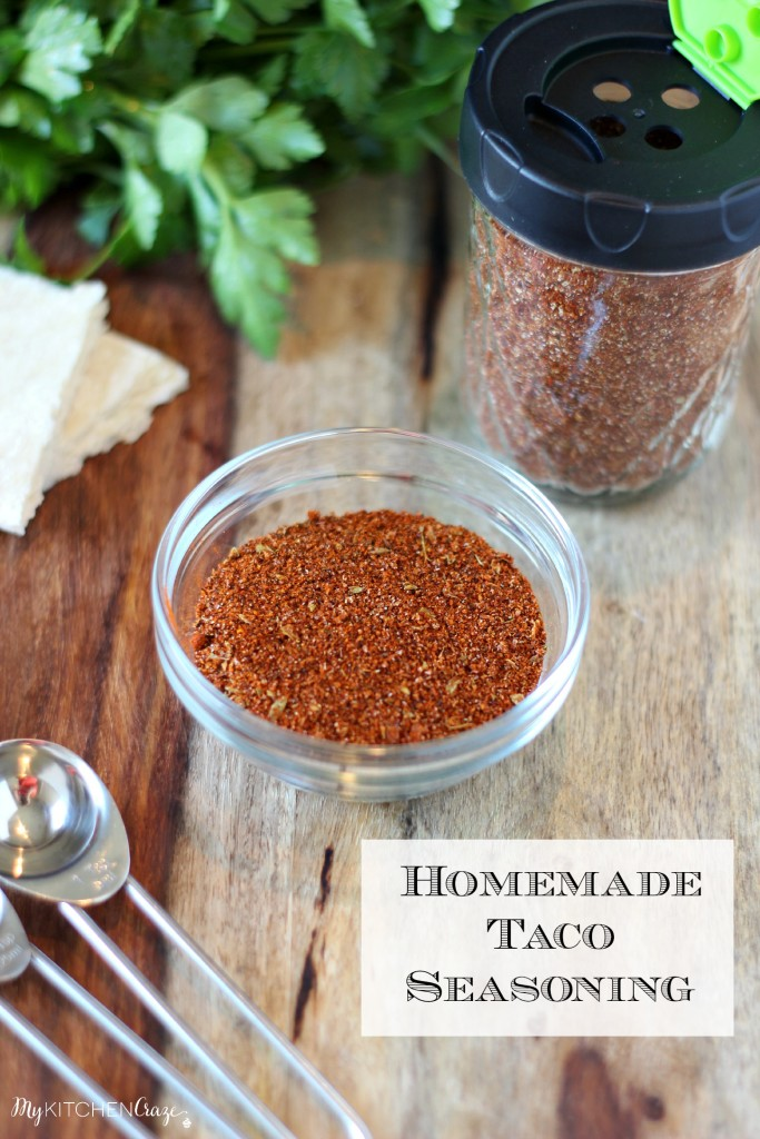 Homemade Taco Seasoning ~ This seasoning is great to have on hand. No more pre-packaged packets loaded with funky ingredients. ~ www.mykitchencraze.com