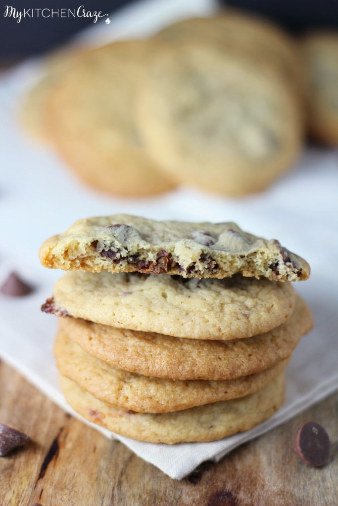 Chocolate Chip Caramel Cookies ~ A delicious chewy cookie filled with chocolate chips and caramel ~ www.mykitchencraze.com
