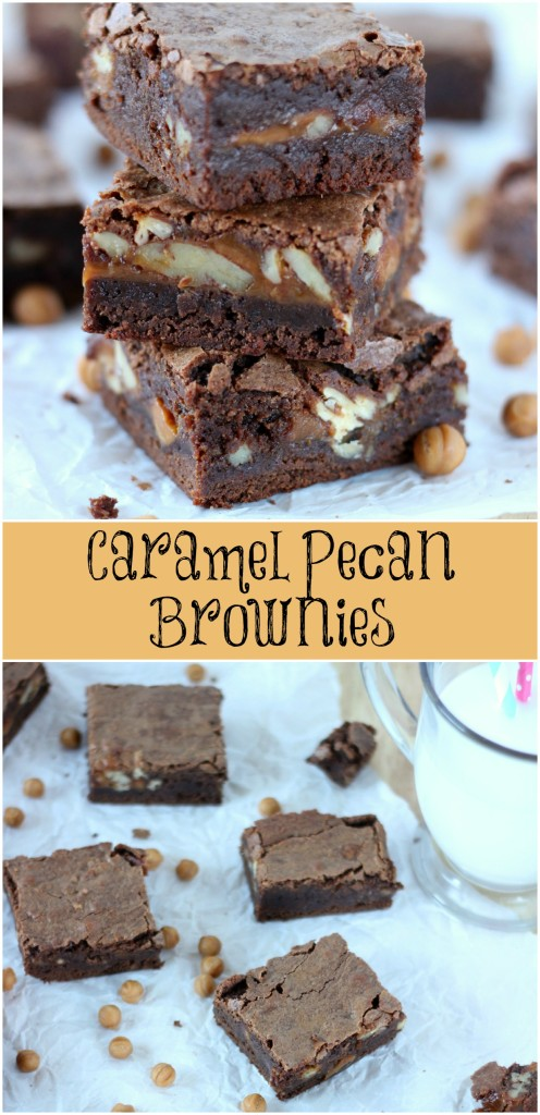 Caramel Pecan Brownies are soft, chewy, chocolate-y with caramel and pecans. These are the best brownies ever! ~ www.mykitchencraze.com