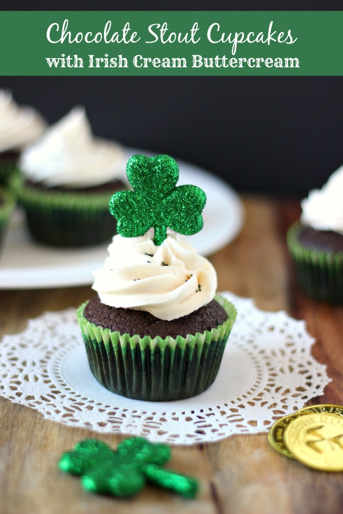 Chocolate Stout Cupcakes with Irish Cream Buttercream - My Kitchen ...