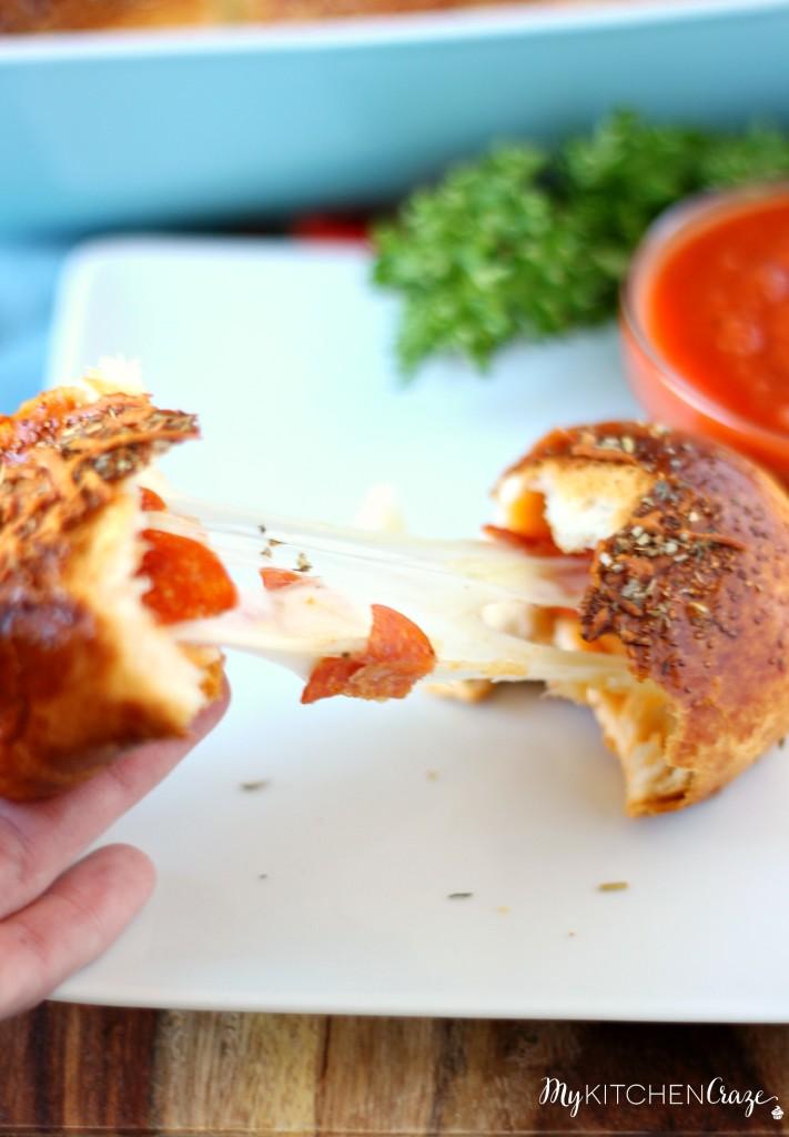 Pizza Biscuits ~ www.mykitchencraze.com
