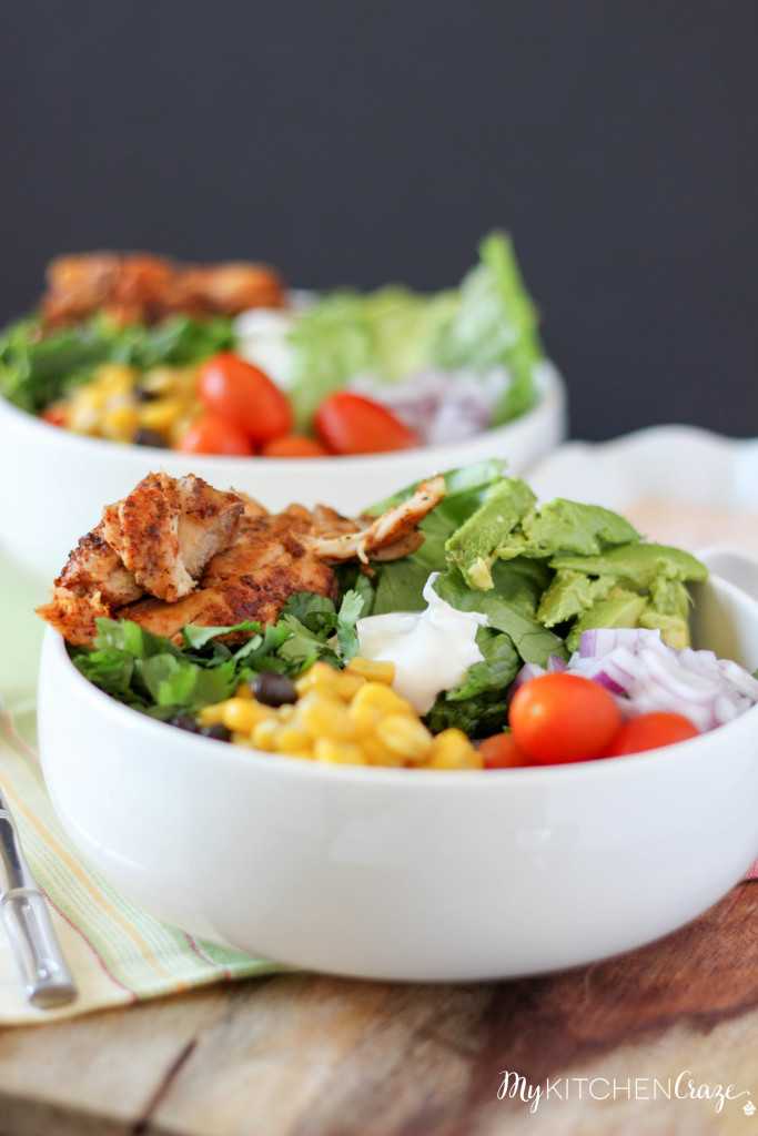 Tex-Mex Chicken Salad ~ www.mykitchencraze.com
