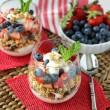 Berry Fruit & Yogurt Granola Parfait ~ www.mykitchencraze.com ~ A healthy, quick and nutritious parfait.