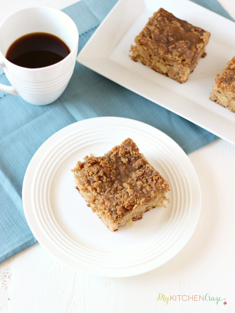 Apple Coffee Cake ~ www.mykitchencraze.com ~ A delicious and moist Apple Coffee Cake.