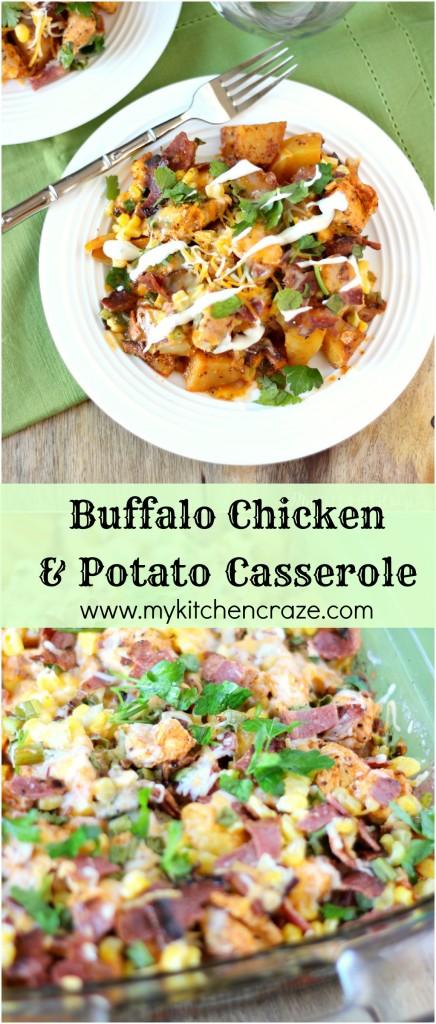 Buffalo Chicken and Potato Casserole ~ www.mykitchencraze.com