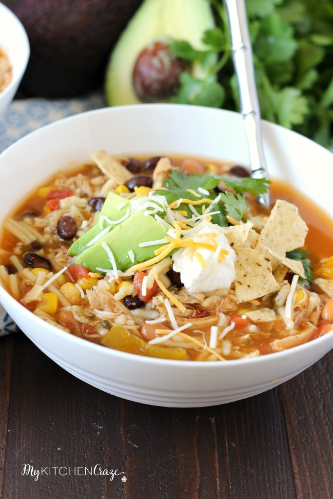 IMG_9061Taco Soup ~ mykitchencraze.com ~ A quick & easy soup recipe that has great flavor!