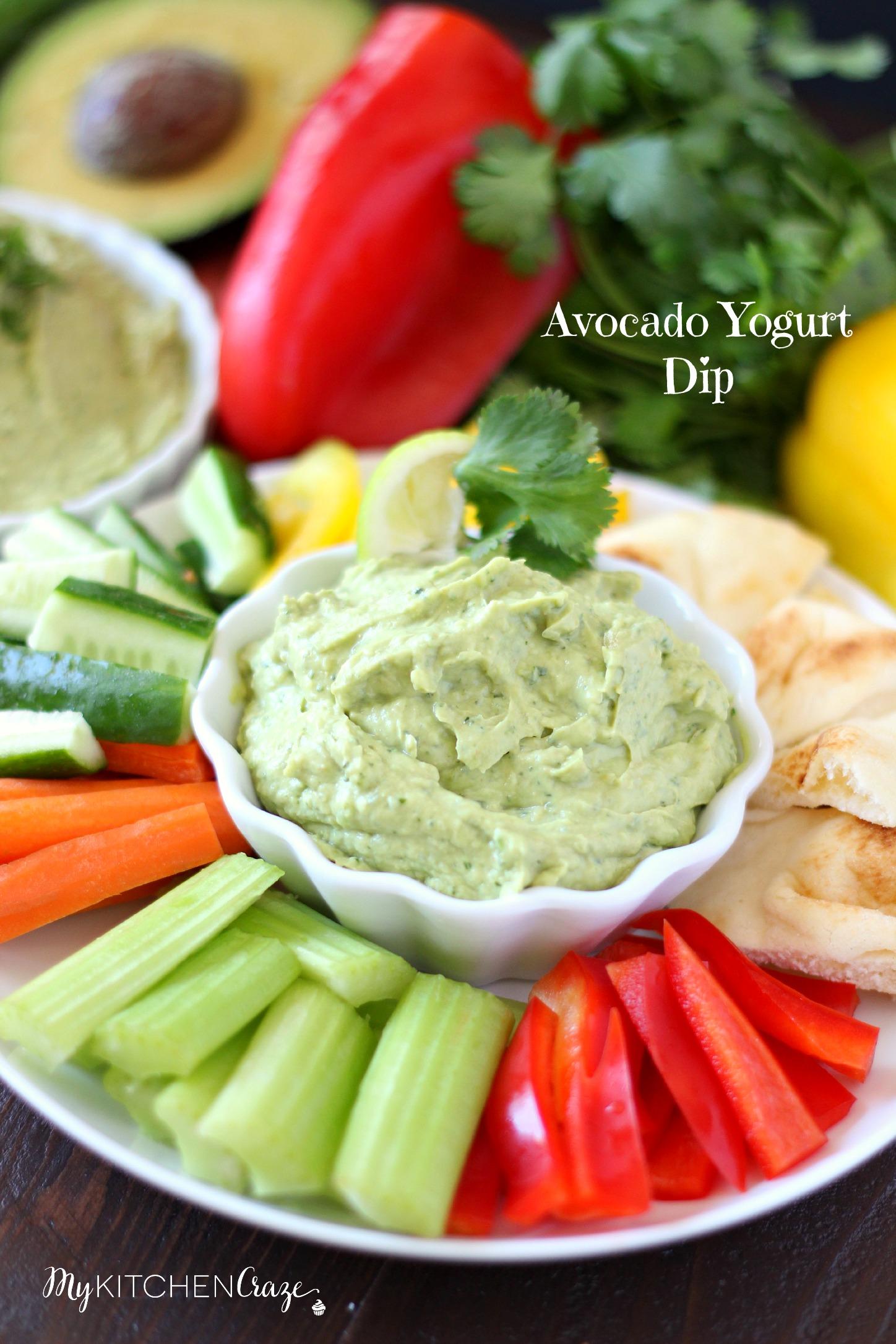 Avocado Yogurt Dip ~ mykitchencraze.com ~ Perfect for all sorts of ...