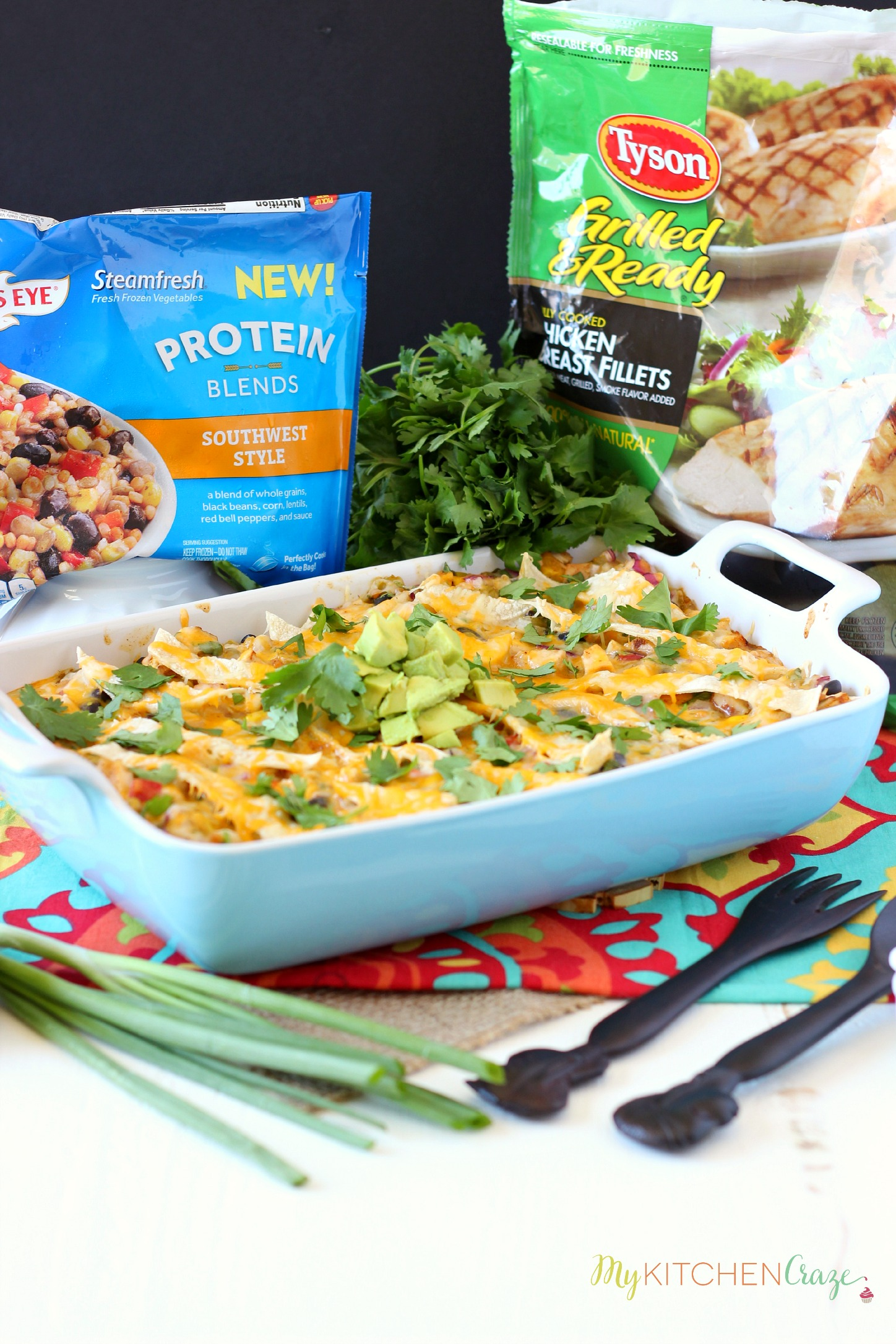 Southwest Chicken Tortilla Bake ~ mykitchencraze.com ~ Quick, easy & delicious. What more could you ask for dinner?