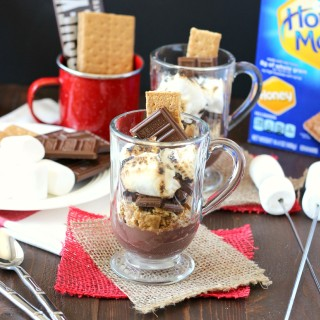 S'mores Pudding Cup ~ mykitchencraze.com ~ #LetsMakeSmores  #ad