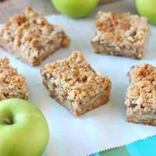 Caramel Apple Crumb Bars ~ mykitchencraze.com ~ These bars a easy to throw together and taste delicious!