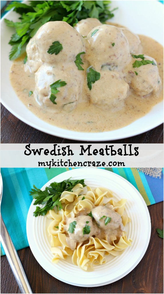 Swedish Meatballs ~ mykitchencraze.com ~ delicious meatballs smothered in a creamy gravy.
