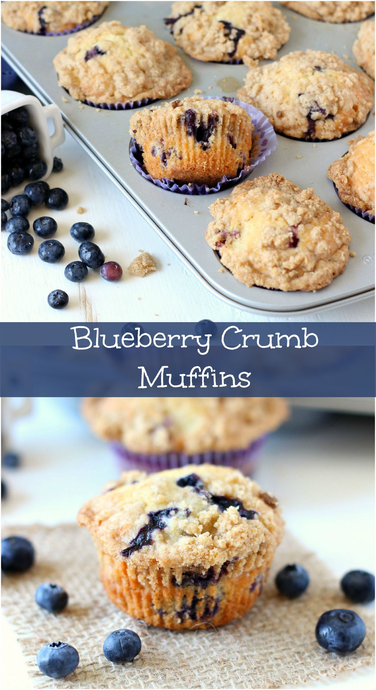 Blueberry Crumb Muffins ~ mykitchencraze.com ~ Muffins are perfect for ...