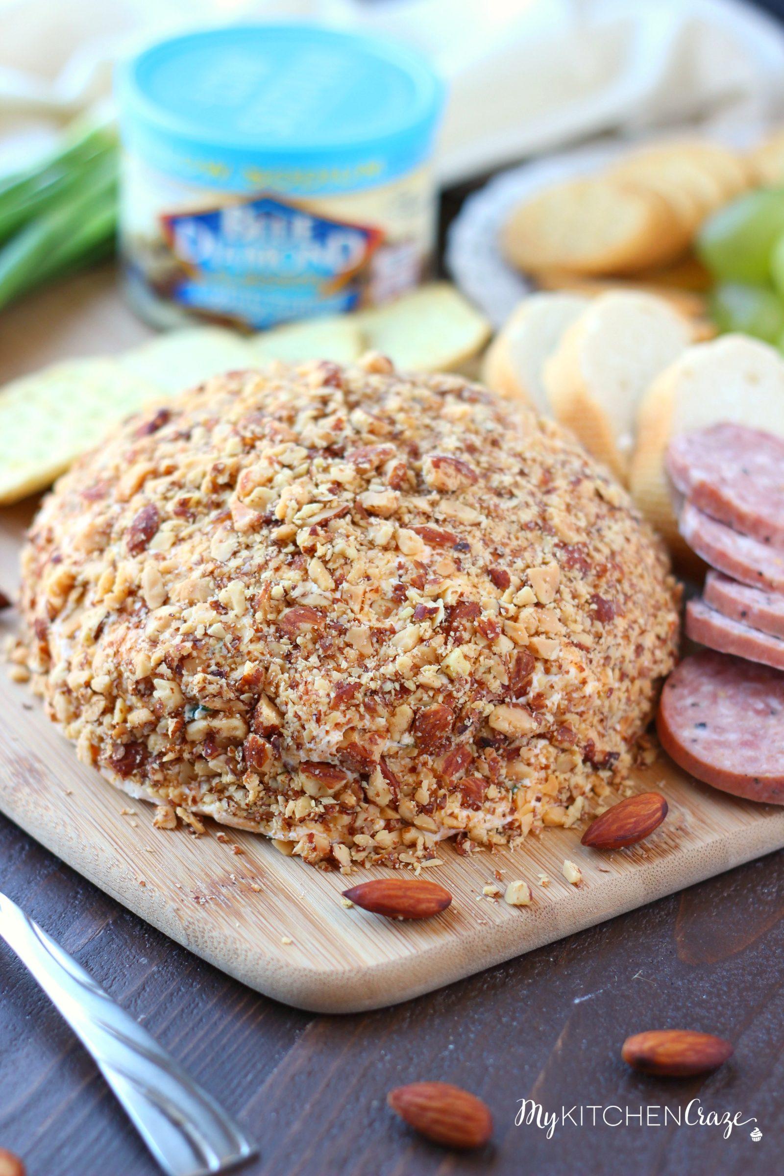 Easy Cheese Ball ~ mykitchencraze.com ~ A delicious Cheese Ball made ...