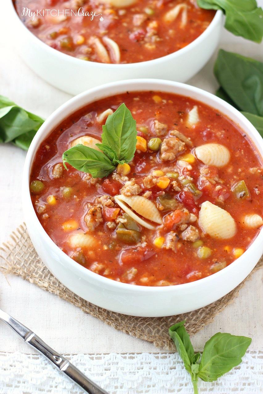 Italian Turkey Soup - My Kitchen Craze