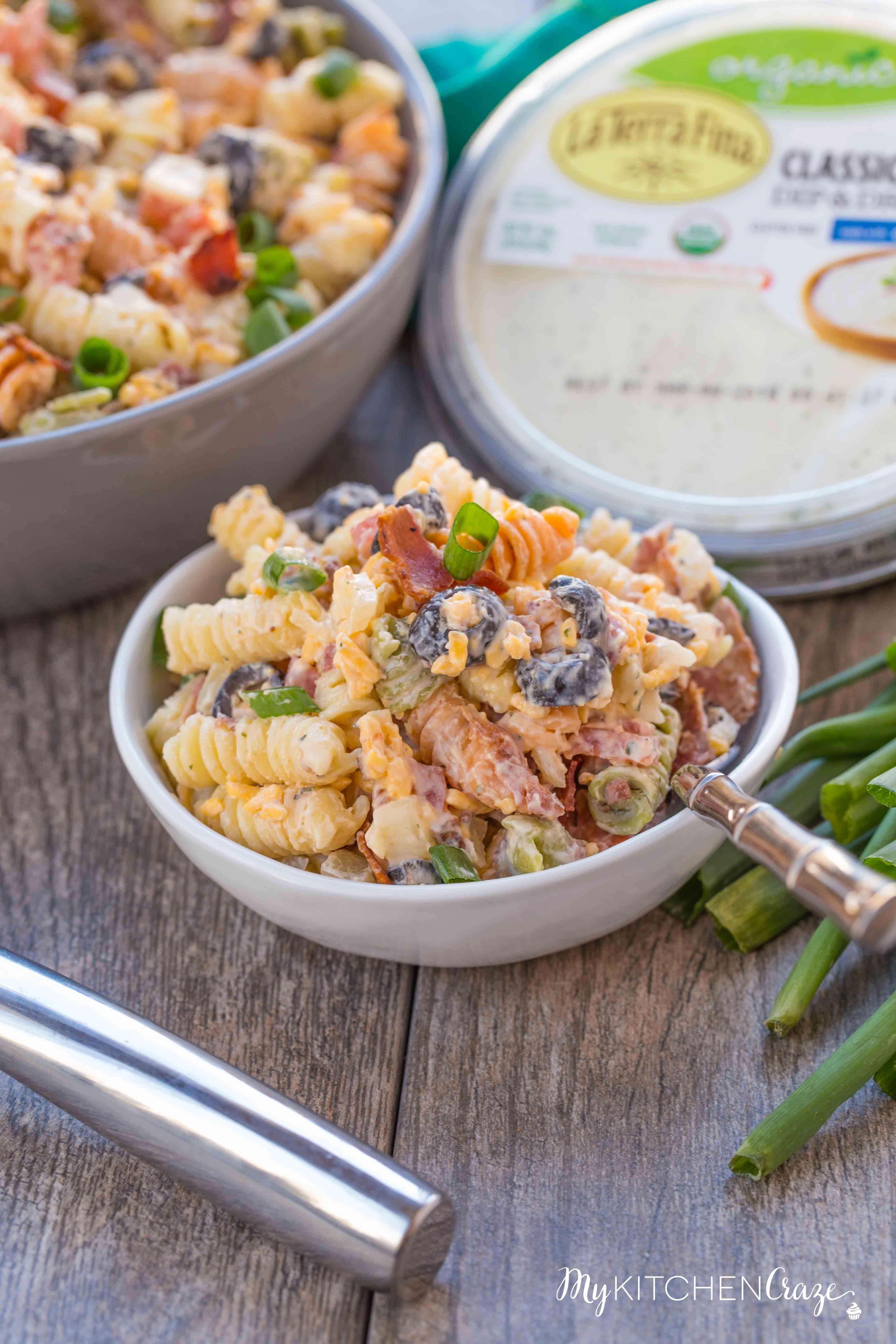 Bacon Ranch Pasta Salad ~ mykitchencraze.com ~ Enjoy crispy bacon ...