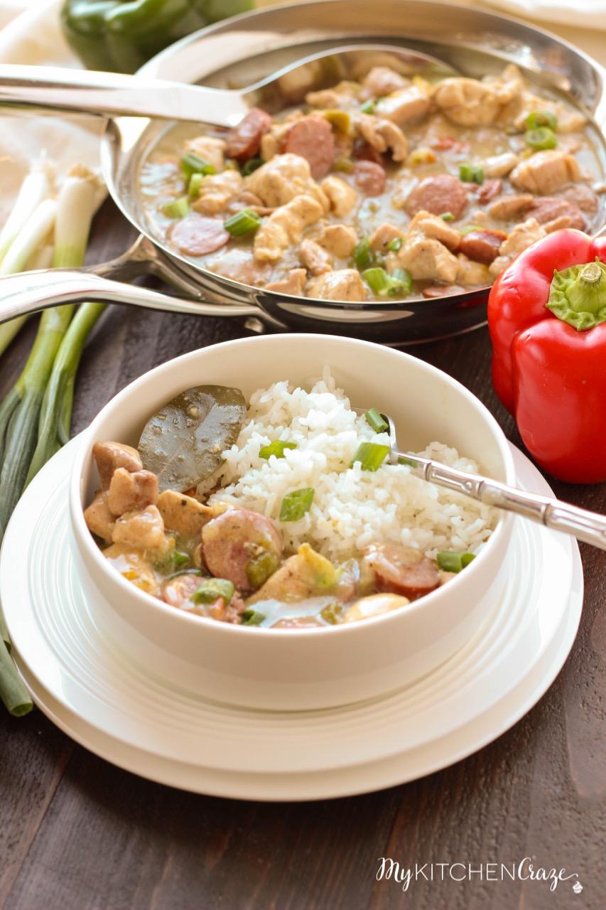 Chicken & Beef Kielbasa Gumbo ~ mykitchencraze.com