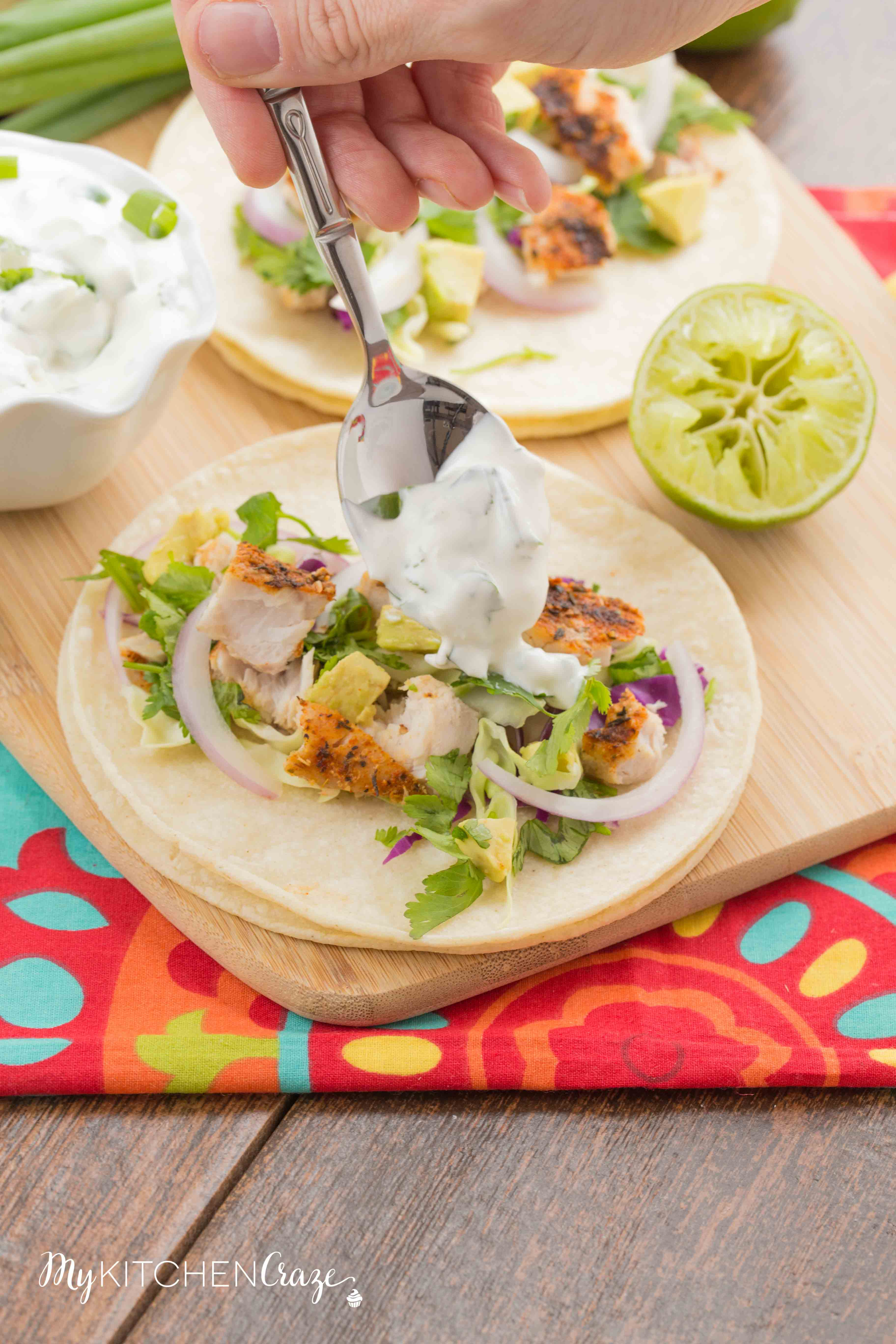 Blackened Mahi Mahi Fish Tacos ~ mykitchencraze.com
