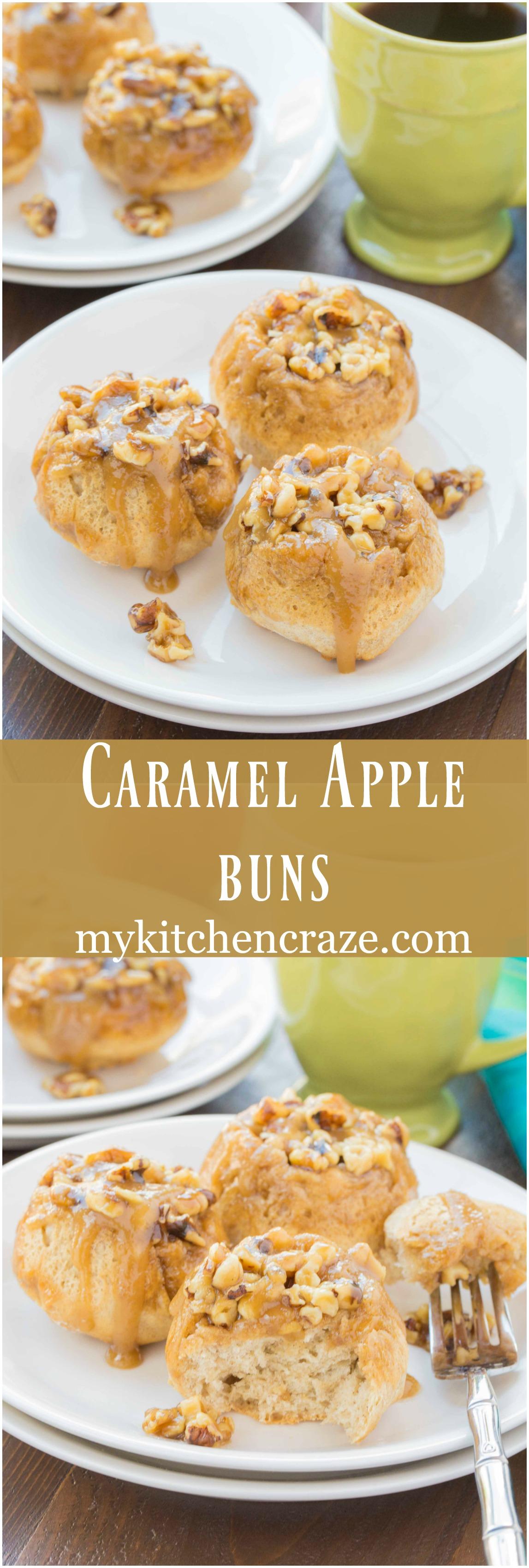 Caramel Apple Buns ~ mykitchencraze.com