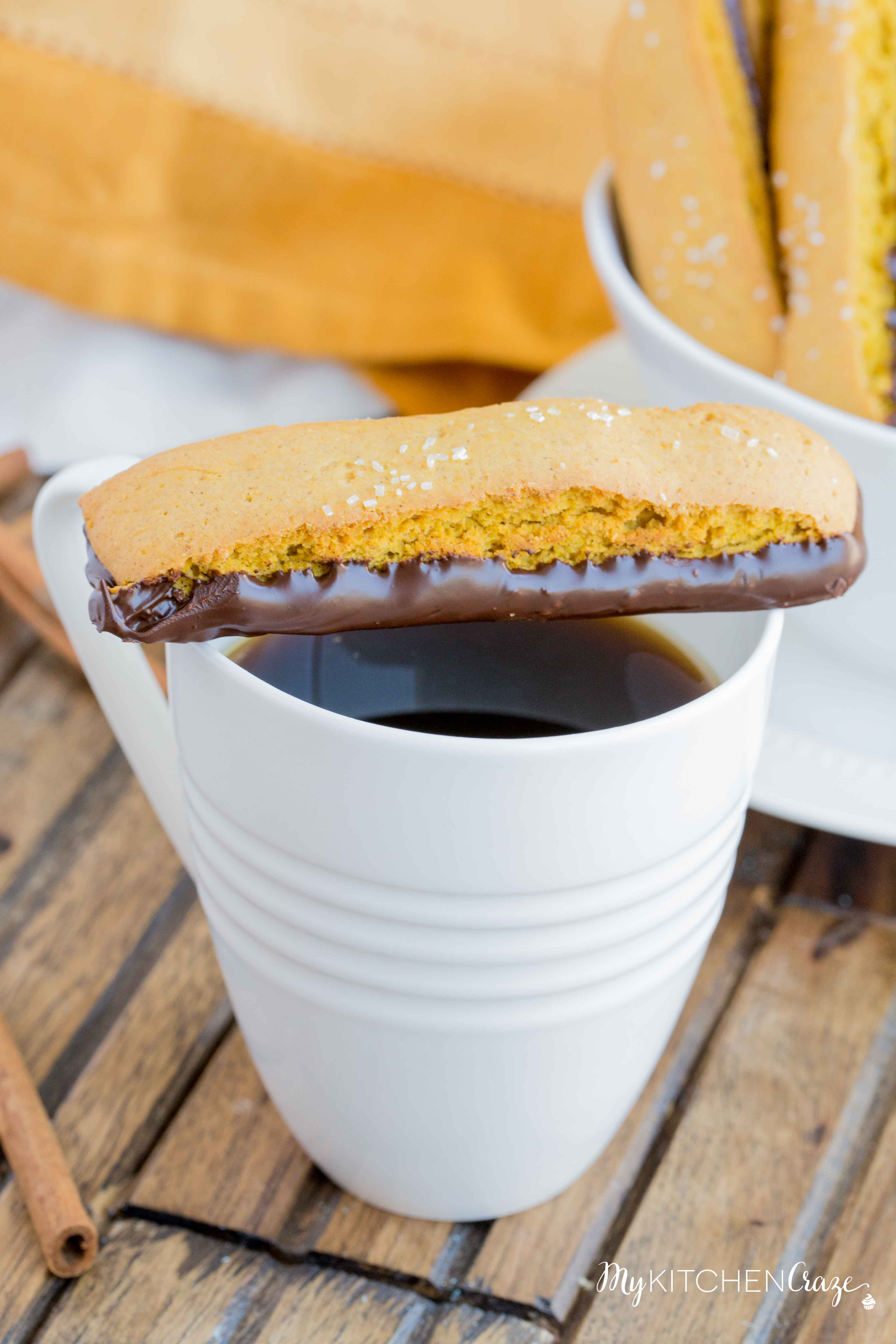 Pumpkin Biscotti ~ Better than any treat you'll get at your local coffee shop, this decadent and fall inspired treat will be a winner in your home. Make sure to make a cup of coffee or tea with it. They pair perfectly together!