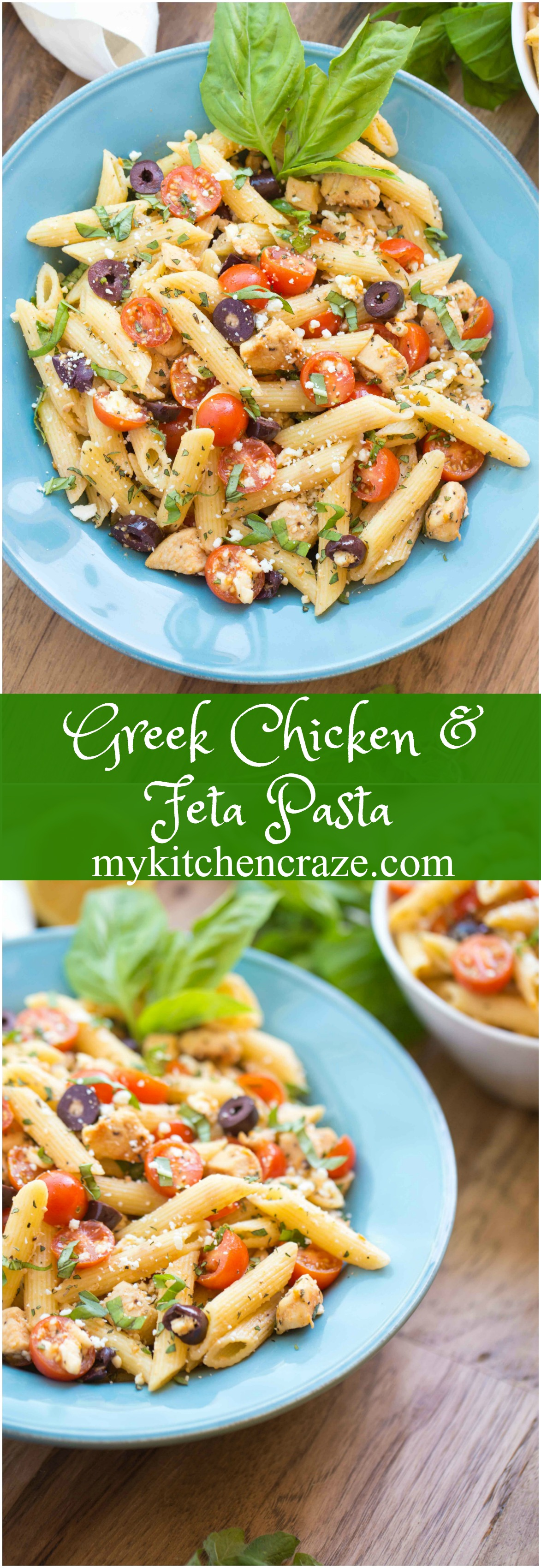 Greek Chicken & Feta Pasta is the perfect easy meal for those busy nights. This recipe is a no fuss recipe that everyone will love.