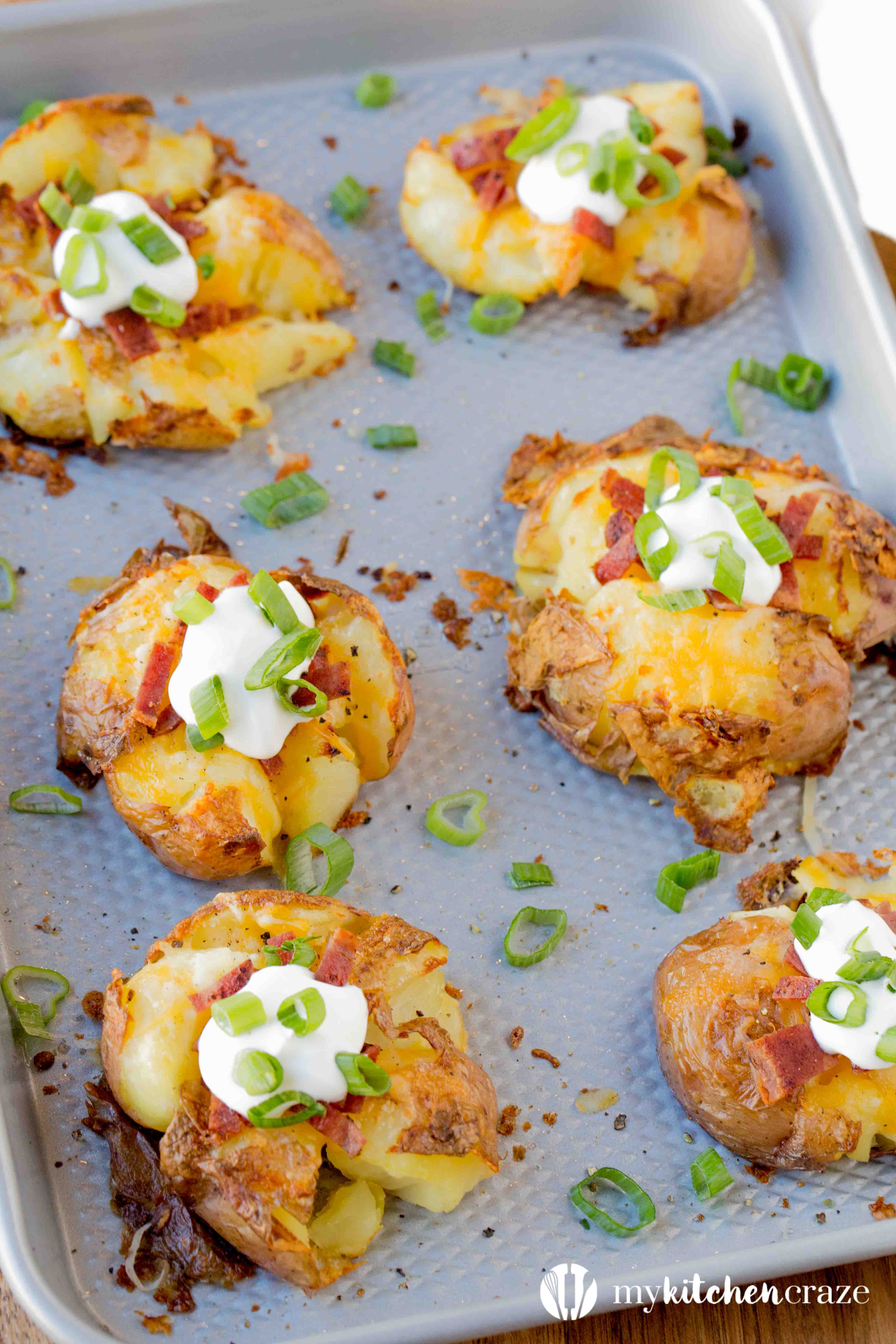 Loaded Smashed Potatoes My Kitchen Craze