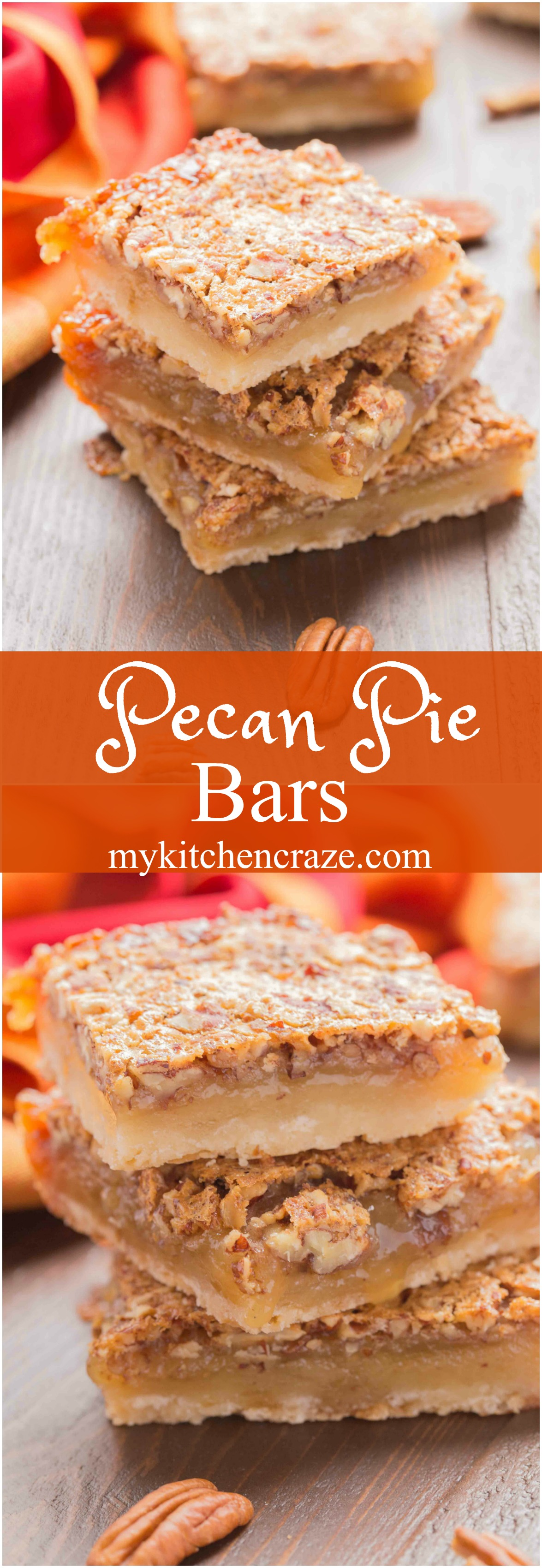 These Pecan Pie Bars are easier to make and serve rather than traditional pecan pie. Perfect for holidays or an any time treat!