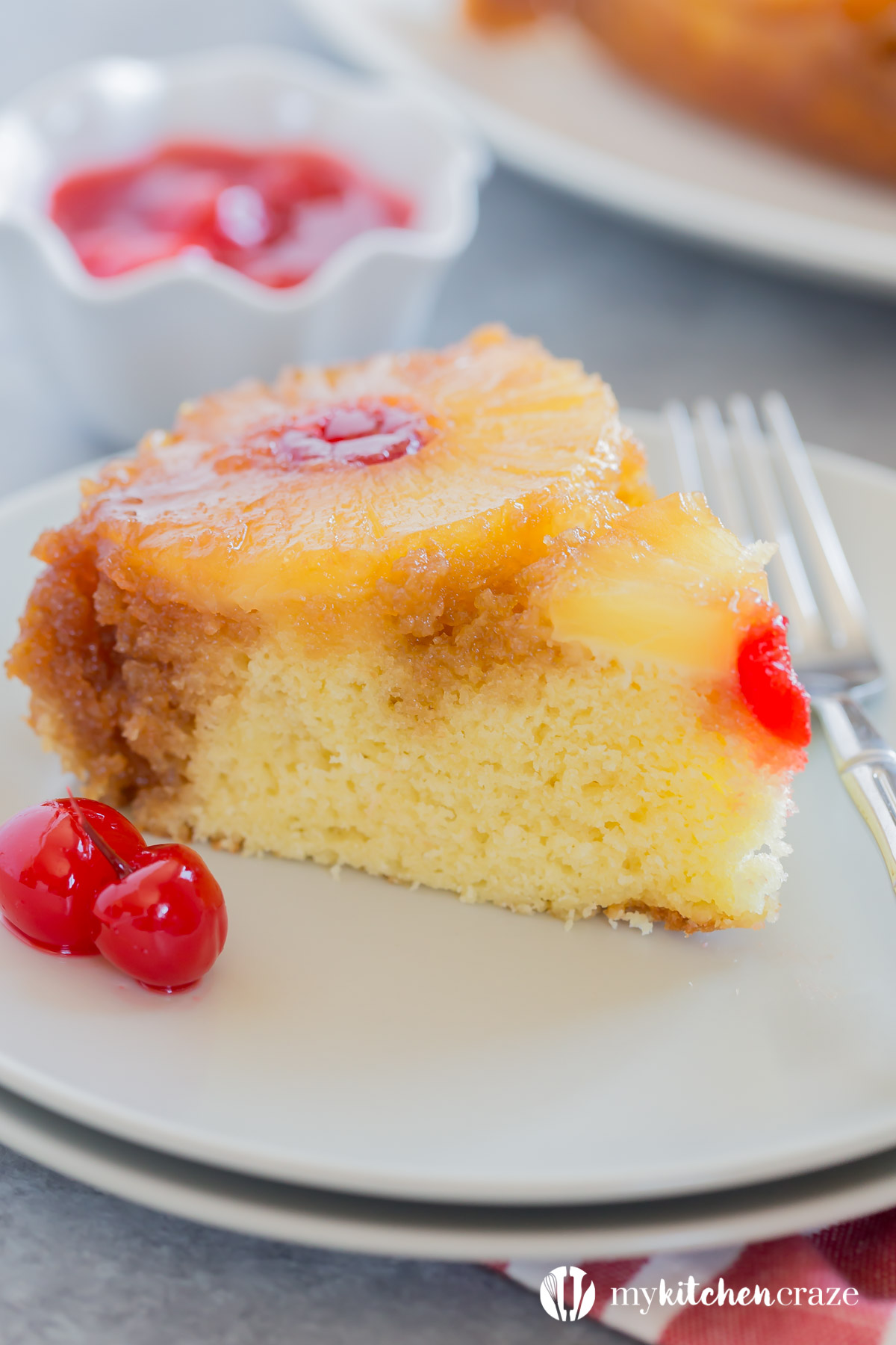 Pineapple Upside Down Cake is one of the best cakes I've ever eaten! It's moist, delicious and all homemade! No cake box needed in this recipe. This cake is screaming make me!