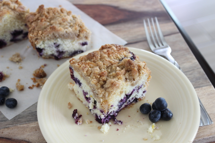 Blueberry Orange Crumble Cake l My Kitchen Craze