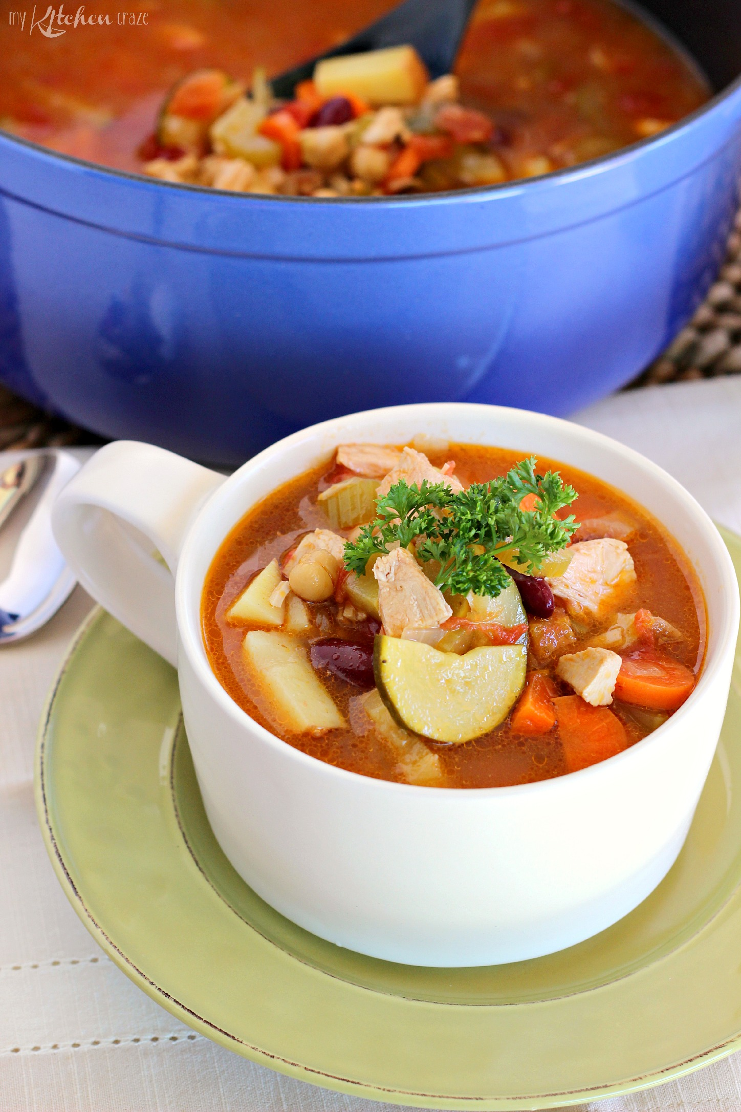 Turkey Vegetable Soup ~ mykitchencraze.com
