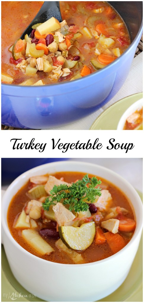 Turkey Vegetable Soup Pinterest