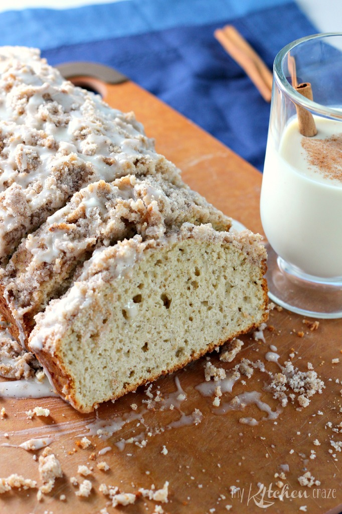 Eggnog Quick Bread l My Kitchen Craze