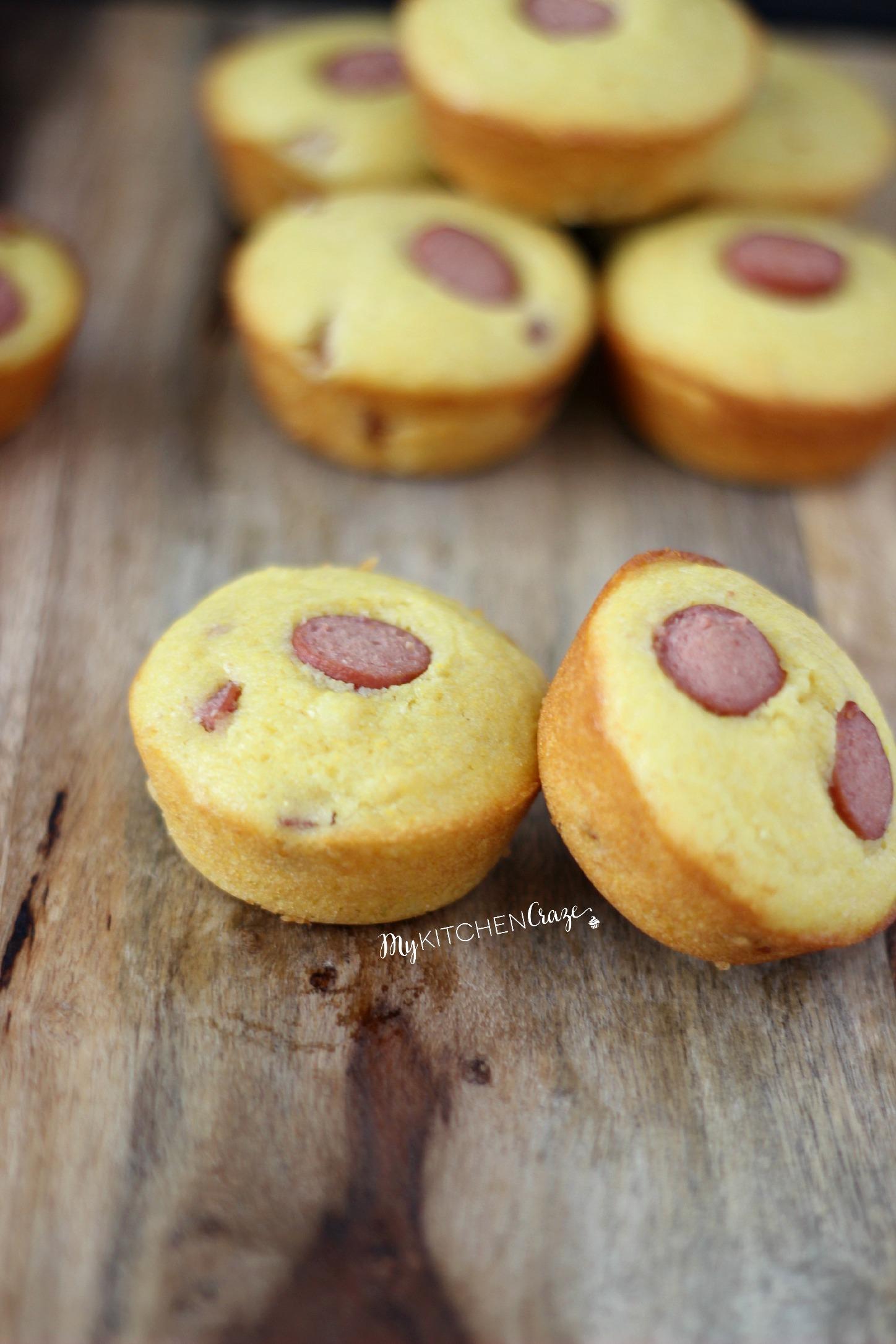 Corn Dog Muffins l My Kitchen Craze