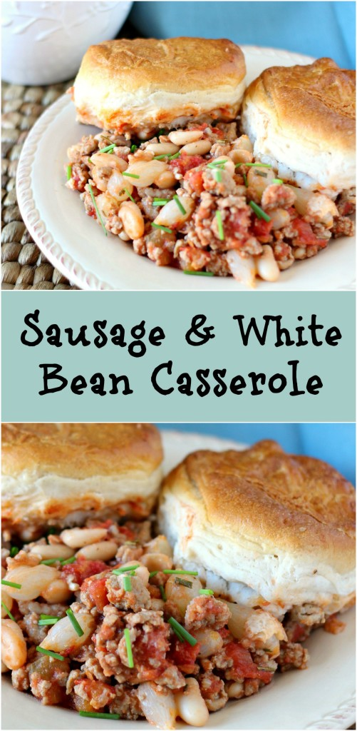 Sausage & White Bean Casserole l My Kitchen Craze l The perfect 30 minute meal that will Wow your family and be on the table in no time! This is a delicious casserole you won't want to miss!