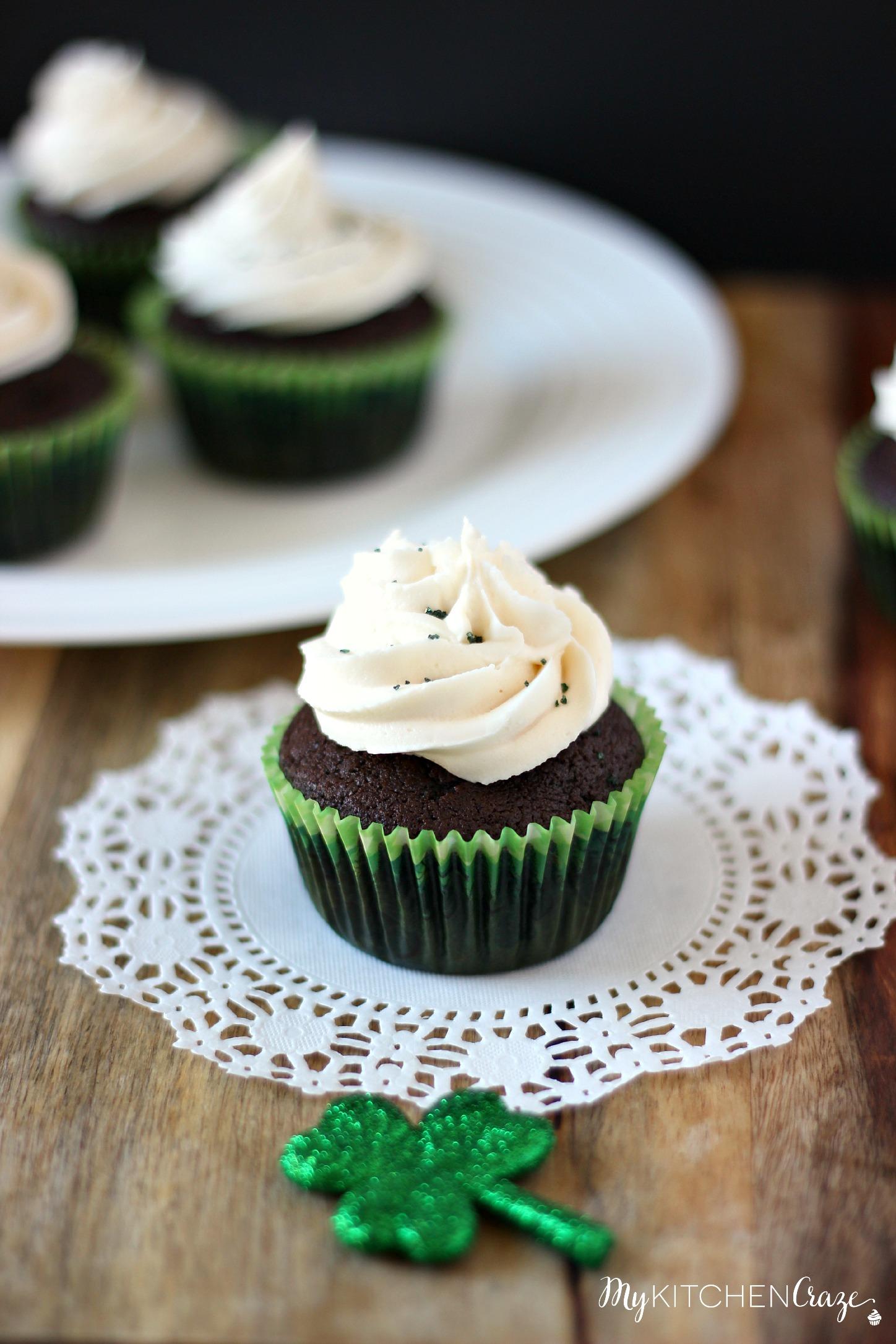 Chocolate Stout Cupcakes with Irish Cream Buttercream - My Kitchen ...