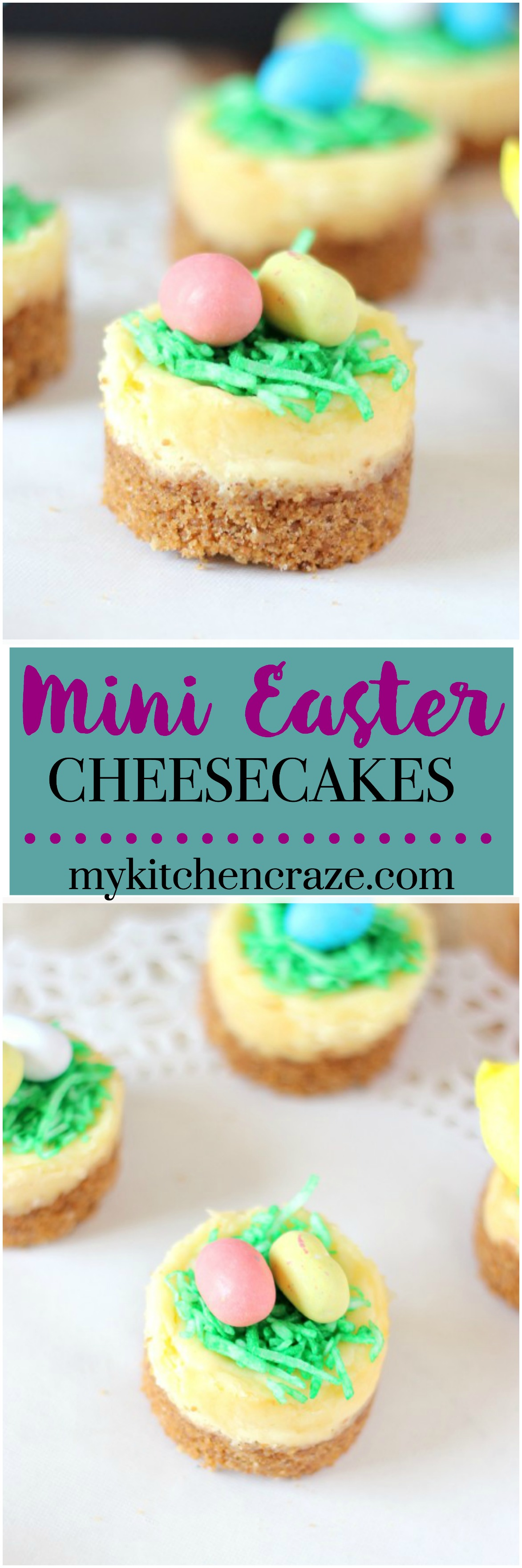 Mini Easter Cheesecake ~ mykitchencraze@gmail.com