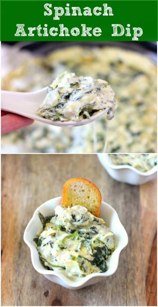 Spinach Artichoke Dip ~ A creamy, cheesy and easy appetizer that everyone will love. ~ www.mykitchencraze.com