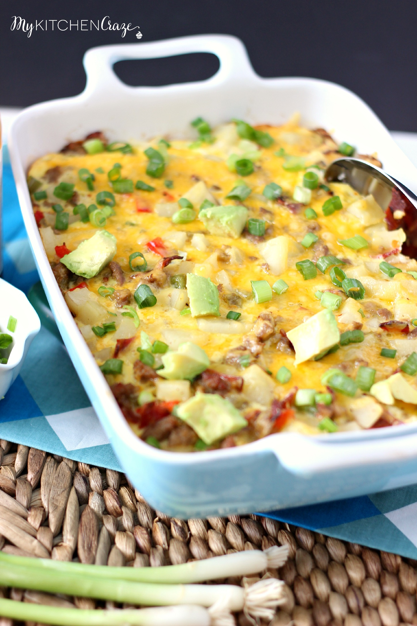 Breakfast Casserole ~ mykitchencraze.com ~ A quick, easy and delicious casserole for those family days!