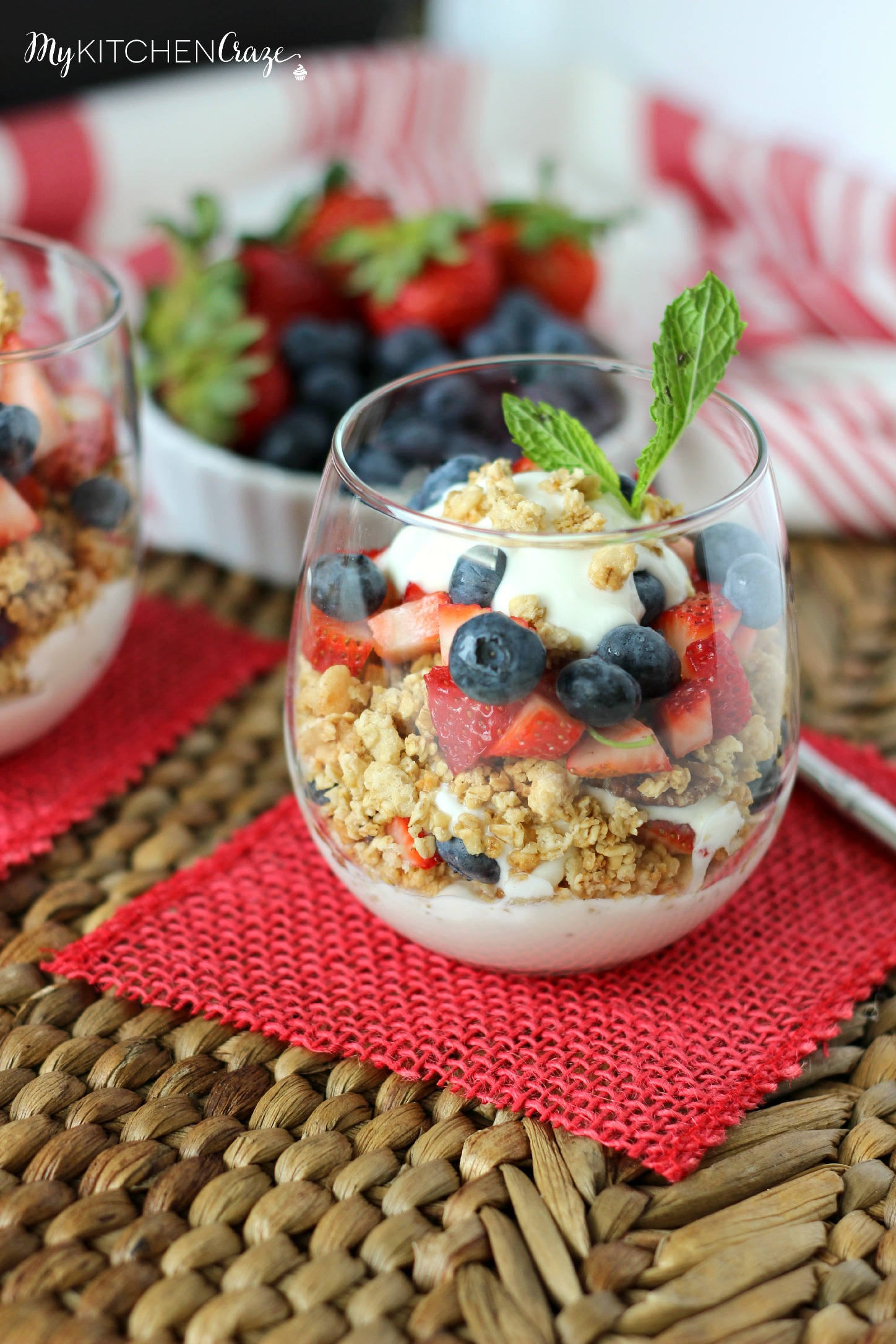 Berry Fruit and Yogurt Granola Parfait - My Kitchen Craze
