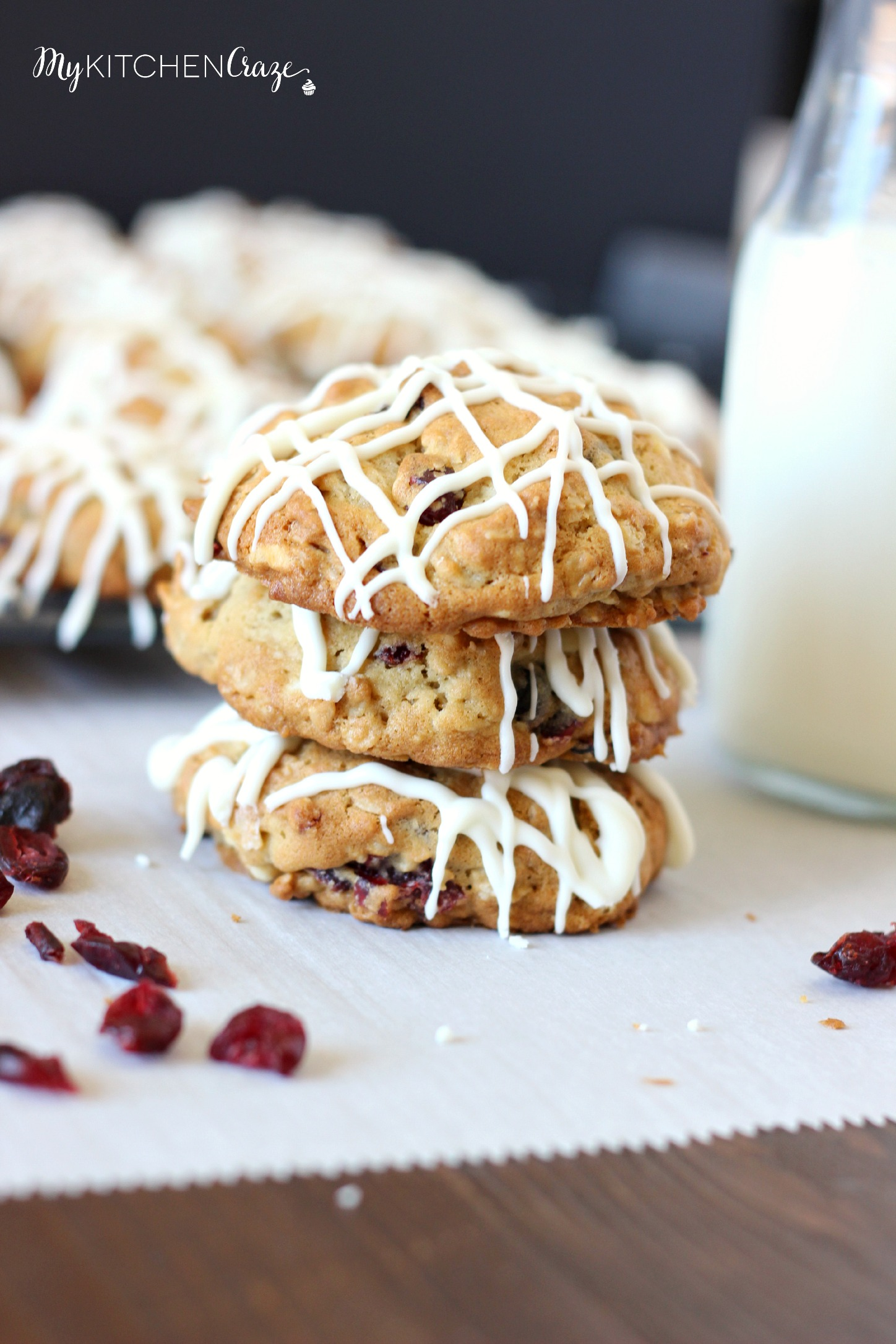 White Chocolate Cranberry Cookies - My Kitchen Craze