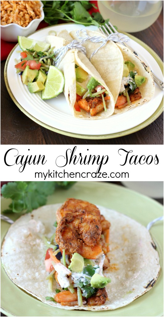 Cajun Shrimp Tacos ~ mykitchencraze.com ~ Delicious and hearty shrimp tacos that every one will love!