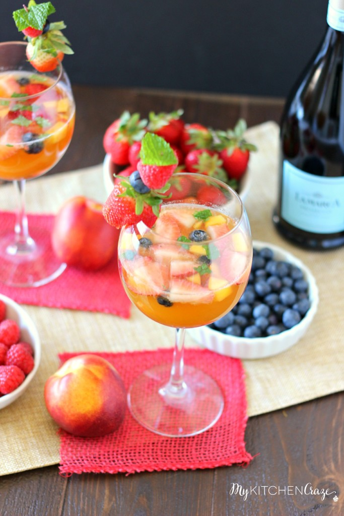 Sparkling Fruit Sangria | Best Holiday Drink Recipes To Spread Festive Cheers With