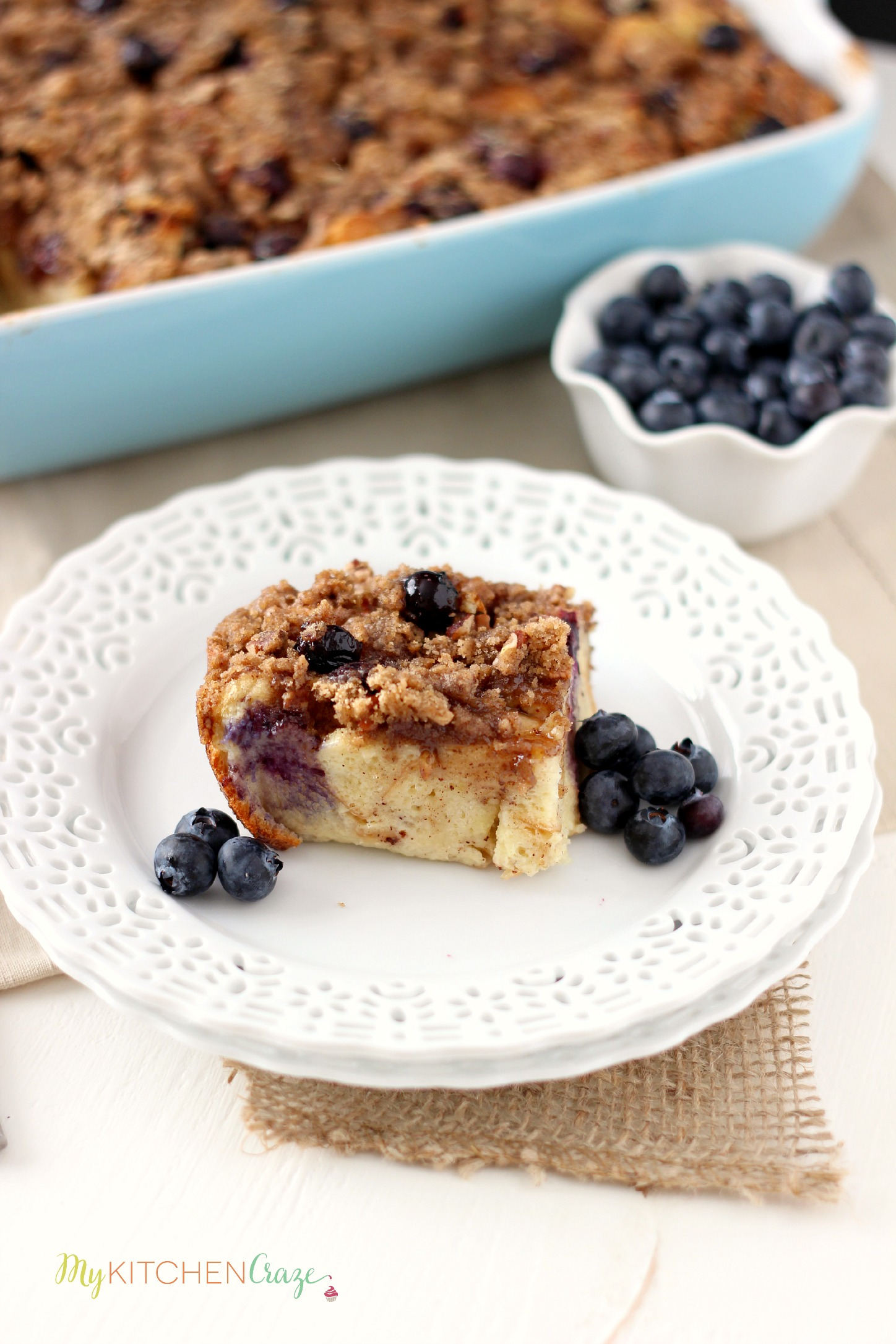 Blueberry Baked French Toast ~ mykitchencraze.com