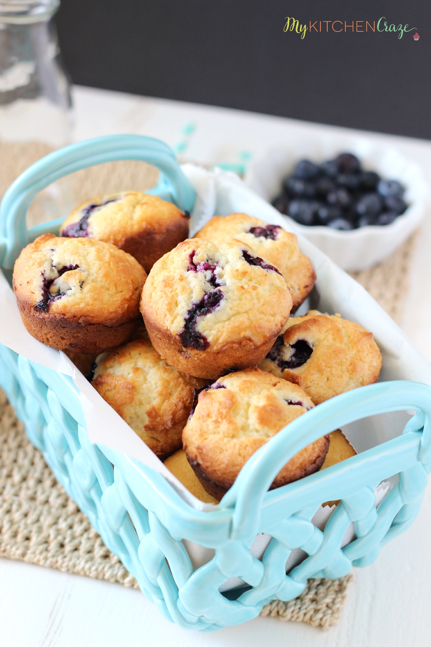 Blueberry Muffins ~ mykitchencraze.com ~ Moist and delicious muffins are filled with juicy blueberries. These Blueberry Muffins are perfect for breakfast.
