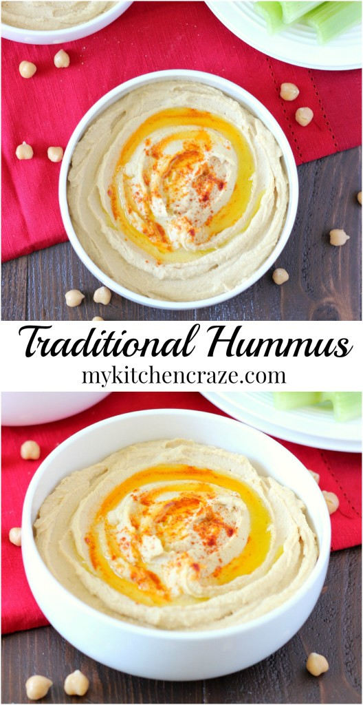 Traditional Hummus ~ mykitchencraze.com ~ A simple and nutritious snack and/or appetizer!