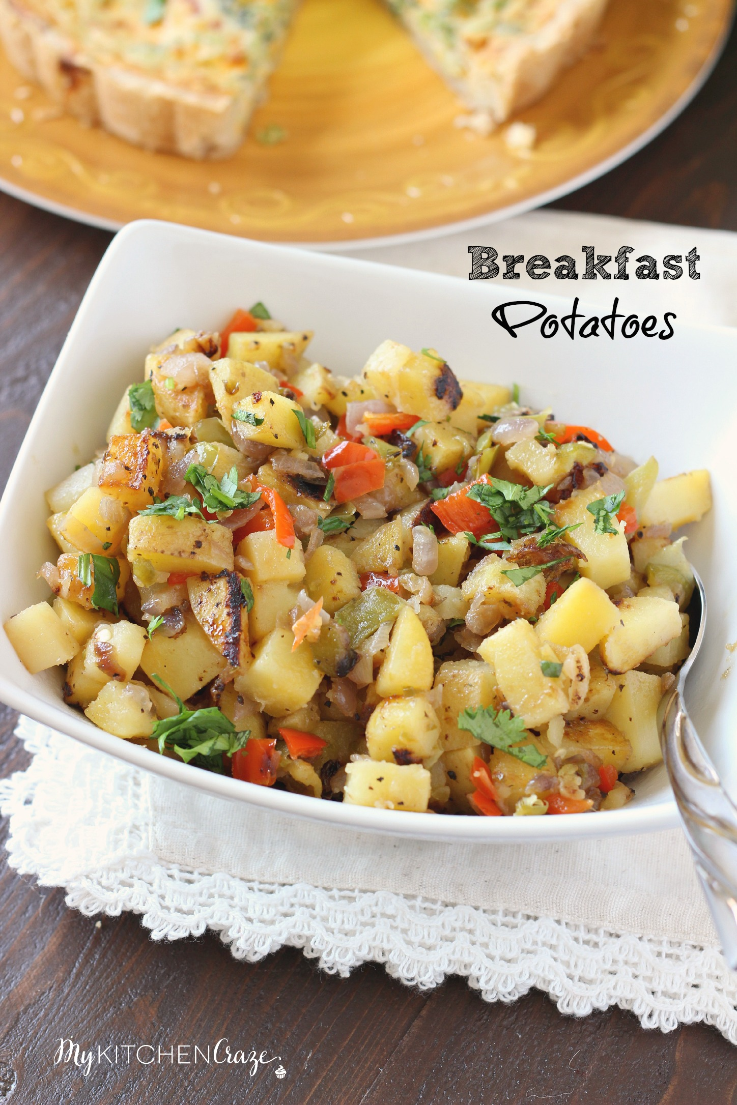 Breakfast Potatoes ~ mykitchencraze.com ~ A simple recipe for breakfast potatoes with crispy edges that are seasoned to perfection!